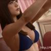 【和泉美沙希】Fカップ 紺の紐パンビキニ姿で貴重な自撮り映像