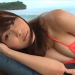 【護あさな】Iカップ2 オレンジビキニとビーチと砂まみれ