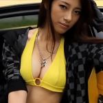 【染谷有香】Gカップ4 黄色ビキニ黒ブーツとランボルギーニ