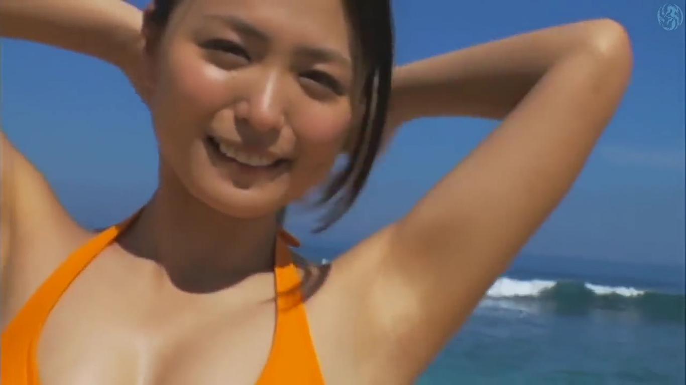 【川村ゆきえ】Eカップ2 オレンジビキニと砂まみれ