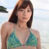 無【中川杏奈】-カップ スレンダーBODYと微笑みとグリーンビキニ