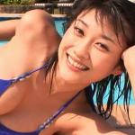 【原幹恵】Gカップ4 爽やか青ビキニと濡れた髪と黒ビキニ