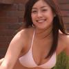 無【鈴木伶香】Eカップ 紐パン白ビキニとブランコとセクシーフェイス