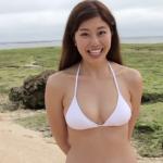 【稲村亜美】Fカップ3 水着とピッチングとバッティング