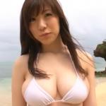 【川奈ゆう】Gカップ3 白ビキニとセクシーランジェリーとノーブラ衣装