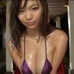 【鷹羽澪】Iカップ5 小さめサテンパープルビキニとダンス