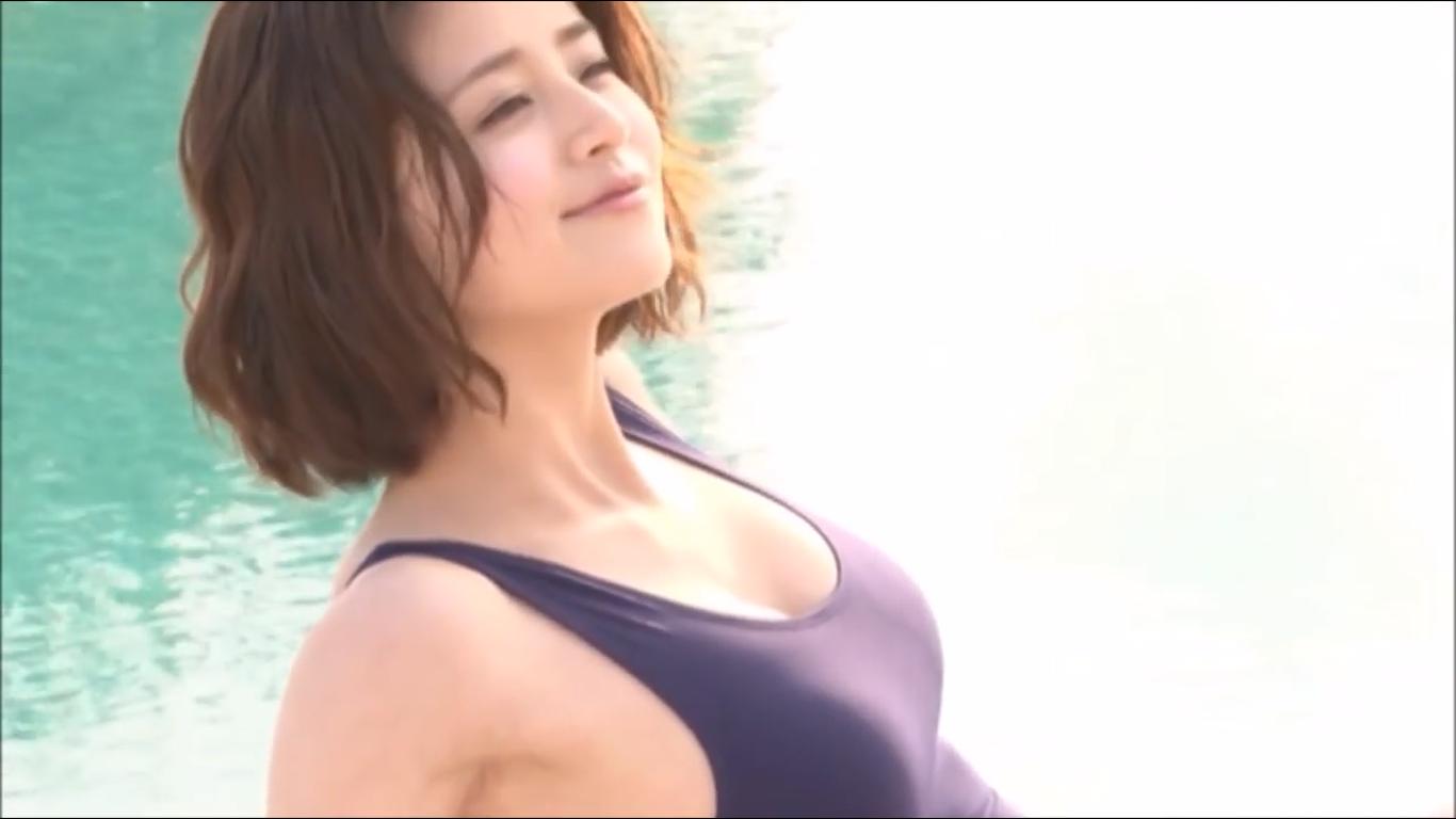 無【鈴木ちなみ】Eカップ3 ワンピース水着とプールサイド