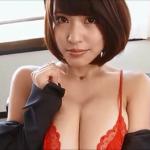 【岸明日香】Gカップ13 スーツと赤下着とストッキング