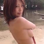 【森はるか】Gカップ4 セクシー水着と濡れBODY