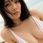 【今野杏南】Fカップ23 ハイレグ白水着でセクシーポーズ
