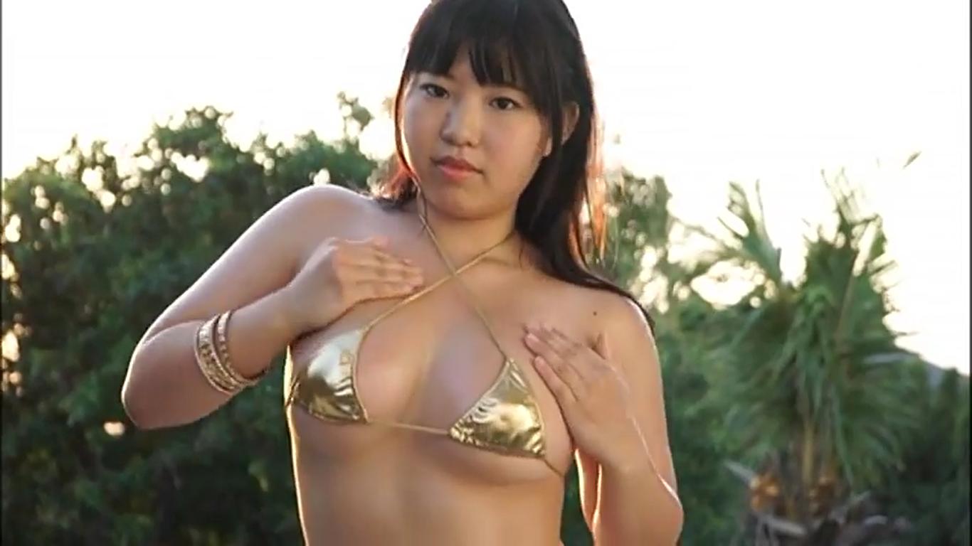 【森村さき】Hカップ2 抱き心地最高BODY!?ゴールドビキニ姿でダンス
