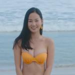 【高嶋香帆】Fカップ5 7代目ミスマリンちゃん 花柄ワンピース&ビキニ姿