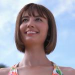 【チェルシーリナ】-カップ 8代目ミスマリンちゃん パレオ&ビキニ姿