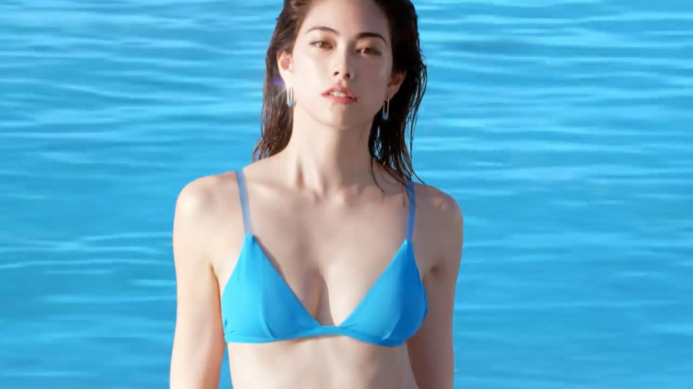 【森星】-カップ 2018年 資生堂アネッサCMで水着姿を披露!