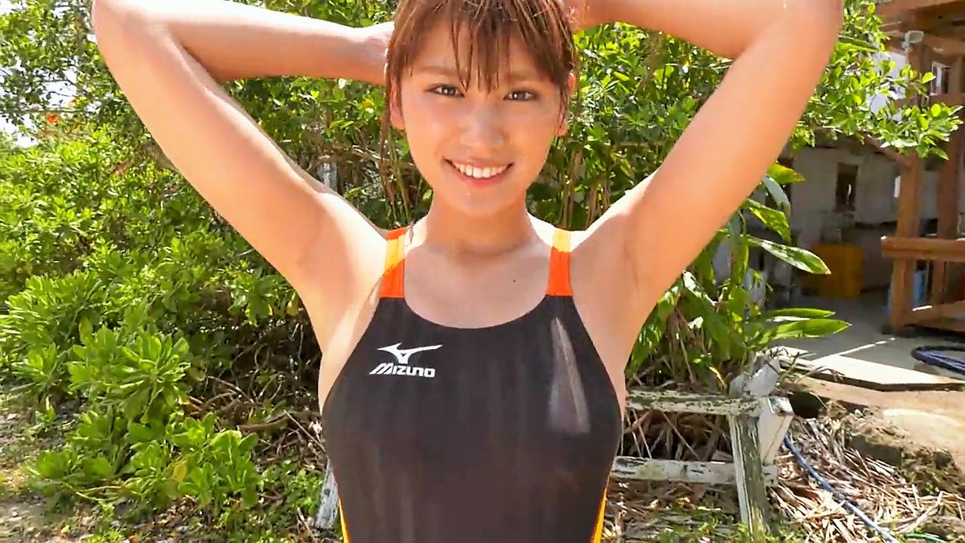 無【久松郁実】Dカップ26 思わせぶりな態度が男心を駆り立てる!?健康的な競泳水着姿!