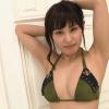【金子智美】Fカップ5 水着に網タイツ姿で美BODYをアピール
