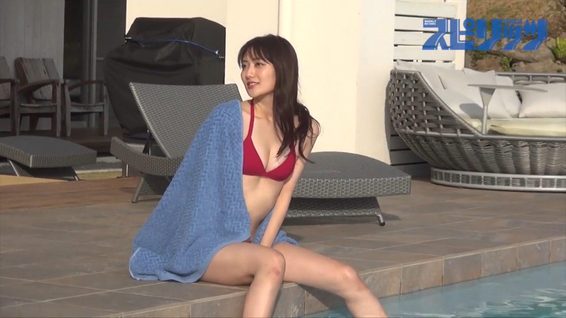 【奥山かずさ】-カップ6 ビッグコミックスピリッツ!動画!沖縄で水着姿を披露!
