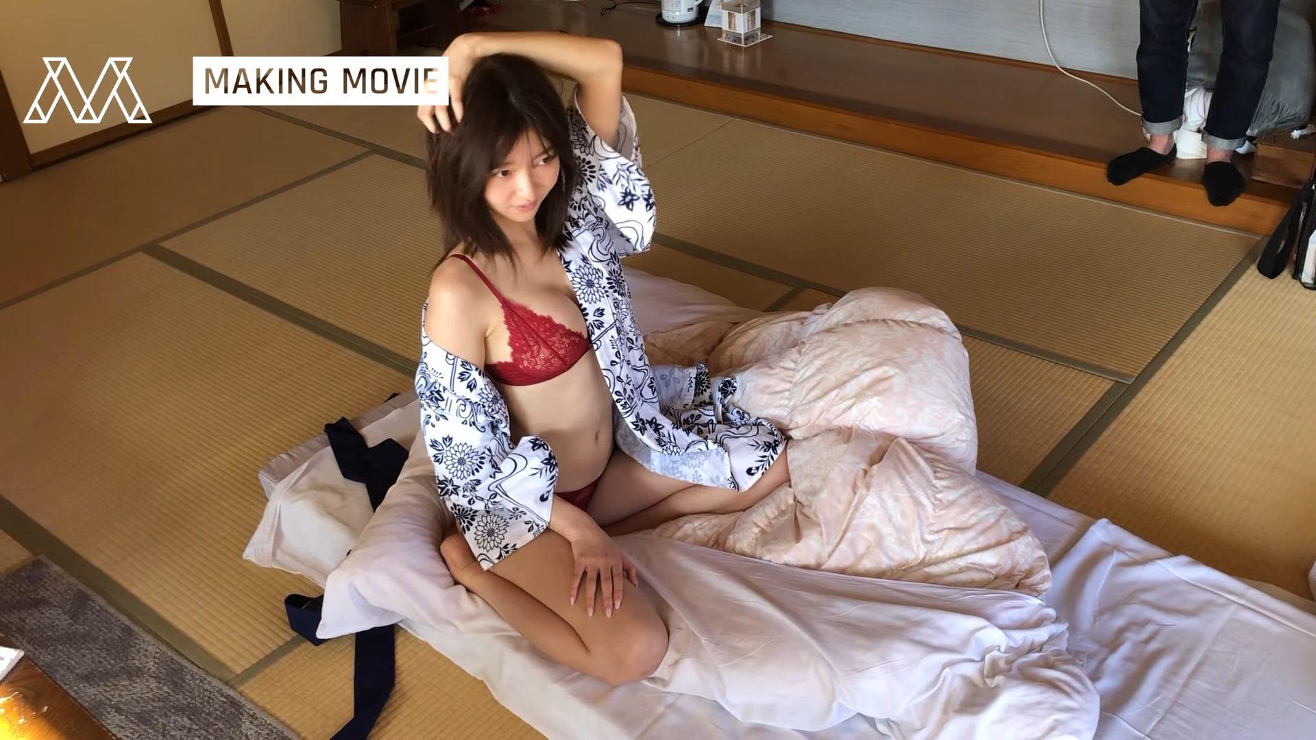 【橋本萌花】Eカップ2 軽井沢!温泉!浴衣姿や水着姿を披露!