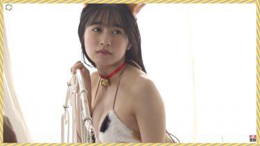 【早川渚紗】-カップ2 ヤンマガWeb!ミスマガジン2020!猫の水着姿を披露!