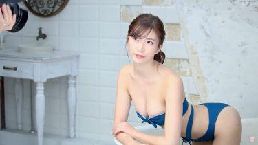 【松嶋えいみ】Fカップ30 ファースト・トレーディングカード!動画!水着姿を披露!