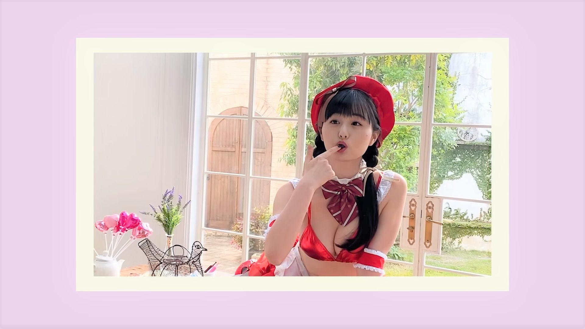 【くりえみ】Cカップ41 ヤングキング!撮影裏側動画!セクシーな姿を披露!