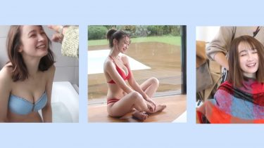【藤井サチ】-カップ2 ヤンマガ初水着グラビア撮影裏側動画!「ViVi」専属モデルが水着姿を披露!