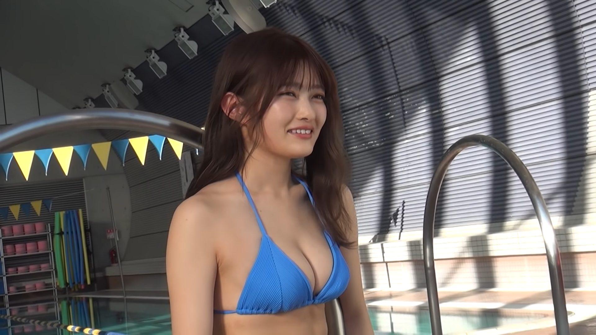 【井上咲楽】-カップ2 ヤンマガ!動画!初登場!水着姿を披露!