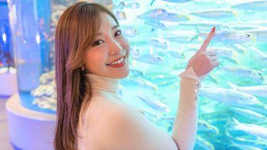 【COCO】Fカップ2 水族館&プール水着デート動画!トレーニングも!