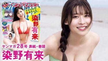 【染野有来】-カップ3 ヤンマガグラビア動画!ドラマ「ガールガンレディ」出演女優が水着姿を披露!