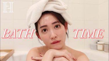 【小嶋陽菜】-カップ5 貴重なバスタイムシーン|Bath Time Scene!お風呂美容ご紹介!